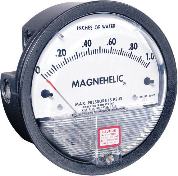Dwyer 2000-60Pa Magnehelic Differential Pressure Gauge 0-60 Pa Vertical Scale