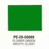 Polyester Flower Green Smooth Glossy